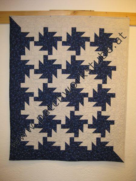 Tesselations, nach einem Buch gearbeitet, Wandbehang, Maschine genäht und gequiltet